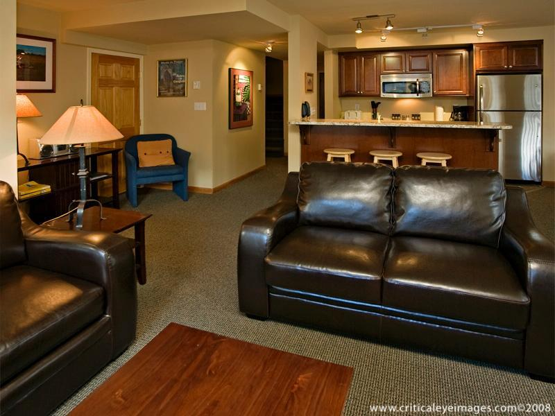 Living and Kitchen Area - Manfred and Pilar Schweitzer - Whistler - rentals