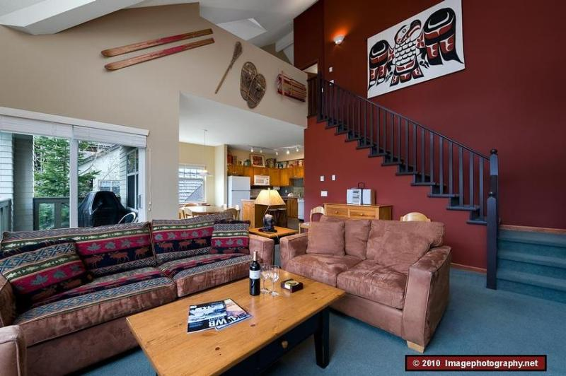 Open Living Area with Stairs to Loft - Whistler Getaway - Whistler - rentals