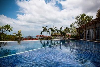 Swimming pool and view - VILLA CATTALEYA, 4BDR, OCEAN VIEW, APRIL DEALS!!!! - Jimbaran - rentals