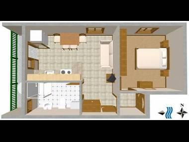 A2(2+2): floor plan - 03604VIS  A2(2+2) - Vis - Vis - rentals
