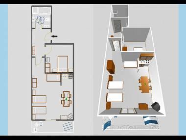 A2(2+3): floor plan - 03004VIS  A2(2+3) - Vis - Vis - rentals