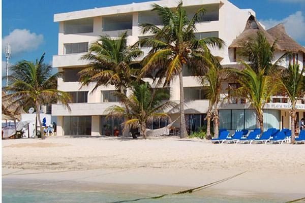 ground floor right half of the building is this unit - Ground Floor Directly on the Sand- True Oceanfront - Playa del Carmen - rentals