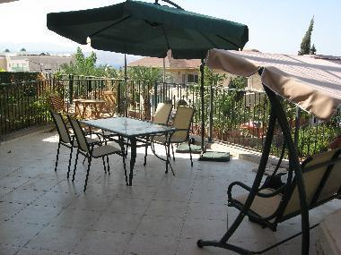spacious patio with swing, table & chairs, shanty sofa - Eilat Luxury Vacation Garden Apartment near Beach - Eilat - rentals
