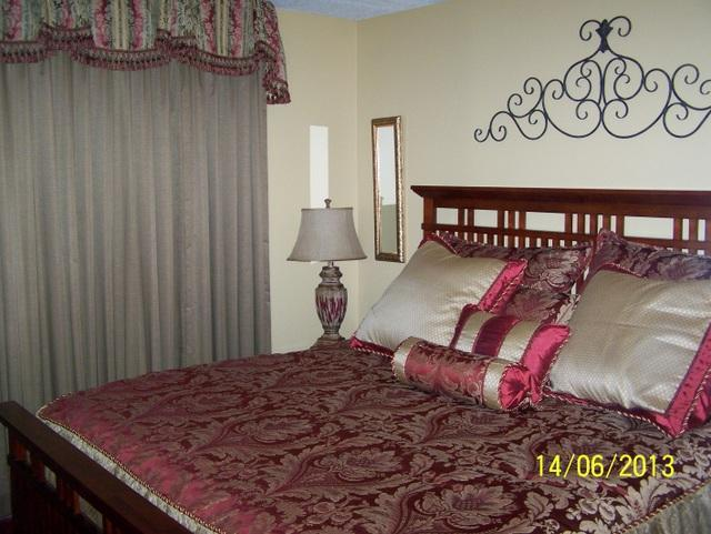 Master Bedroom with King Bed - #201- Oak Square-1 Bedroom Condo - Gatlinburg - rentals
