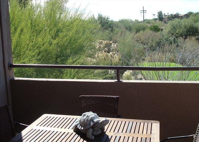 Patio View - Southwest colors burst in this 1 Bedrm/Den with golf course views! - Tucson - rentals