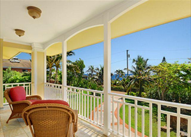 Lovely lanai - Alohilani - Gated Estate 5 Bedroom Villa with a Pool - Poipu - rentals