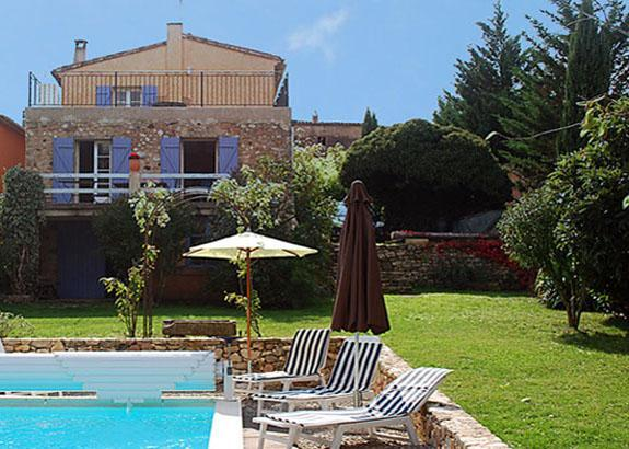 Back garden pool view - Restored stone house in peaceful Luberon hamlet 5 minutes from Roussillon - Gargas - rentals