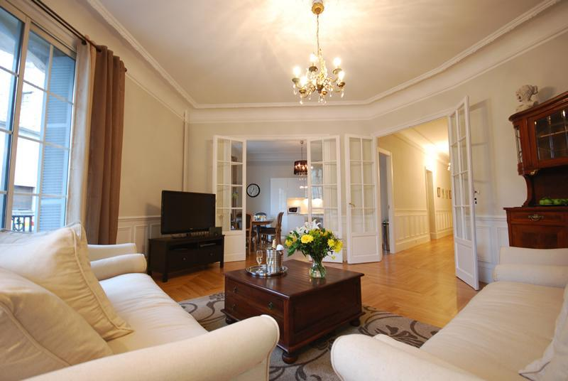Living Room through to kitchen and Hall - Magnificent 'Belle Epoque' 3 Bedroom Apartment - Nice - rentals