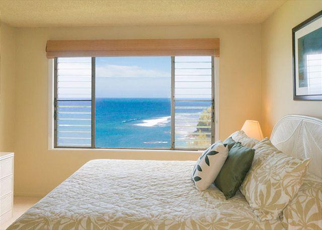 white water views from master bedroom - Alii Kai 4202: Amazing oceanfront views, your private piece of paradise! - Princeville - rentals
