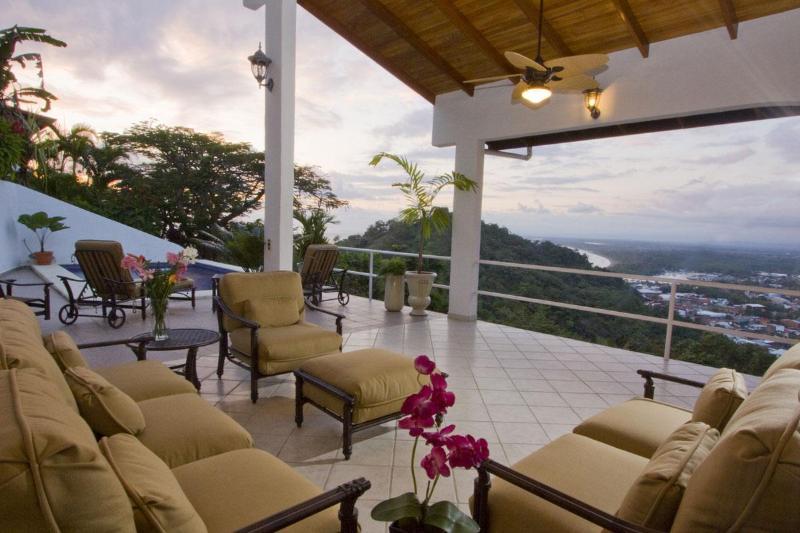 Fabulous Views from the Outdoor Living Area at Casa del Toro - Sept/Oct Specials!Ocean/Quepos View by Marina/Park - Manuel Antonio National Park - rentals
