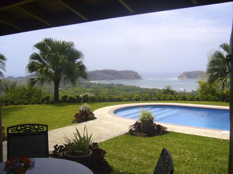 Wake to this master bedroom view of the east end of Playa Samara and Isla Chora! - Casa Vista Del Mar:  180 Degree Ocean Views, Fresh - Playa Samara - rentals
