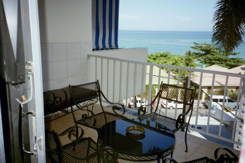 Private Balcony - BeachView Vacation Condo - Montego Bay Hotel Strip - Montego Bay - rentals