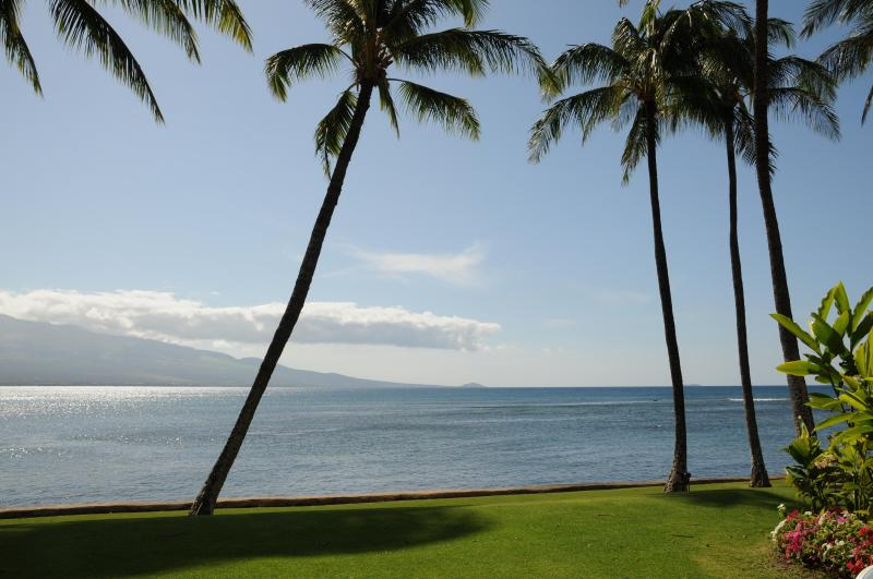 View from lanai of Haleakala Volcano - Best Oceanfront, LAULOA, Remodeled, HDTV, WIFI - Maalaea - rentals