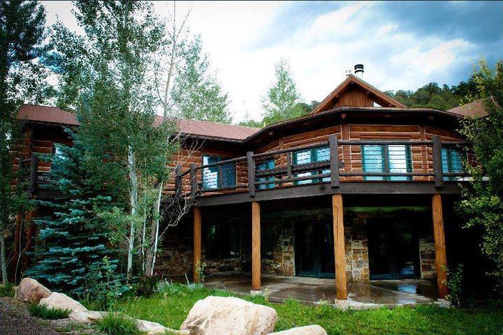 The spacious deck and patio below. - Biggest & Best, 7 Bedrooms, 10 years in business - Glenwood Springs - rentals