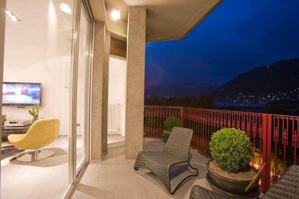Balcony w/panoramic city views - Lake Como's  Fantastic City Condo Apartment - Como - rentals