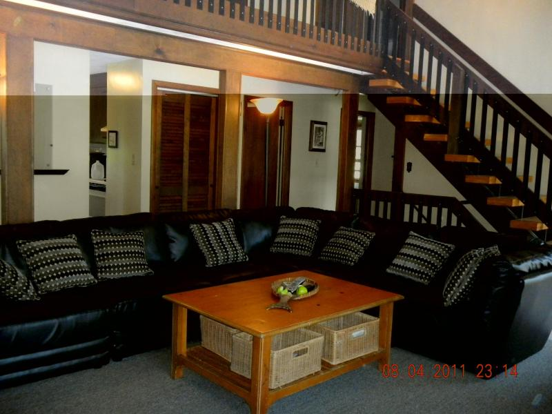 Chalet Living Room - 6 Bedroom-SunPorch-bed- common areas on 1st floor - Narragansett - rentals