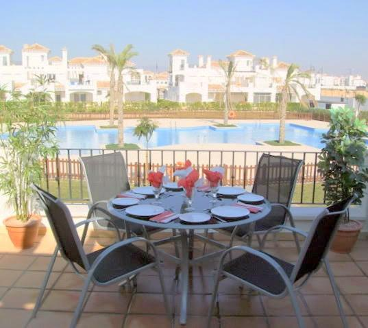 Part of the large private terrace. - 2 BED 2 BATH HOUSE AT LA TORRE GOLF MURCIA SPAIN. - Roldan - rentals