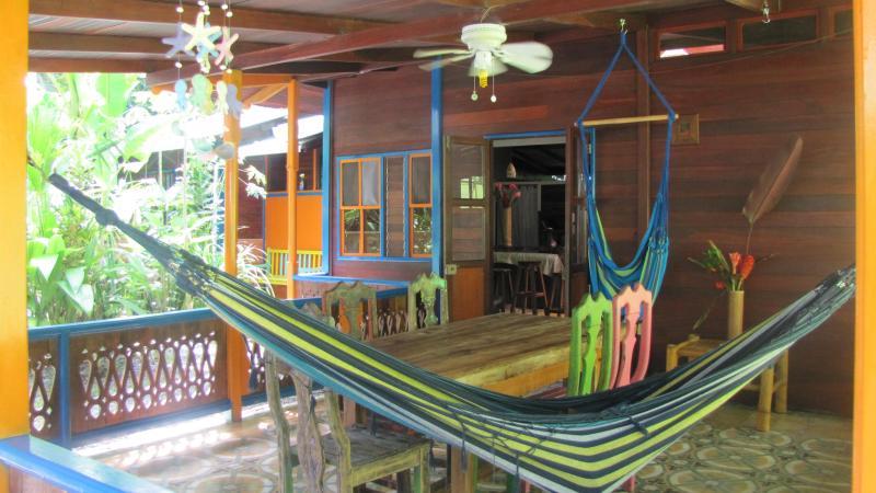 Porch and outdoor dining area - Casa Grande: Jungle and Beach Retreat - Puerto Viejo de Talamanca - rentals