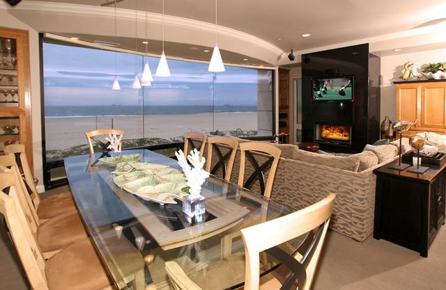 Dining Room - Beachfront 5 Bedroom Southern California Home - Sunset Beach - rentals