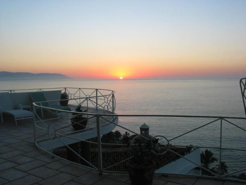 View from Casa Leah's Deck - Quinta Encantada - Breathtaking Views of the Bay - Puerto Vallarta - rentals