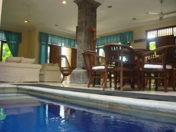 Private plunge pool located in the open air downstairs living area - Kuta Garden, Luxury 4 BR Villa - KUTA - Kuta - rentals
