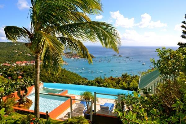 Located high in Colombier offering stunning views of Gustavia Harbor WV MGO - Image 1 - Colombier - rentals