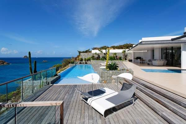 Full ocean view with sun all day- 2 separate buildings comprise this villa. WV ROX - Image 1 - Gustavia - rentals