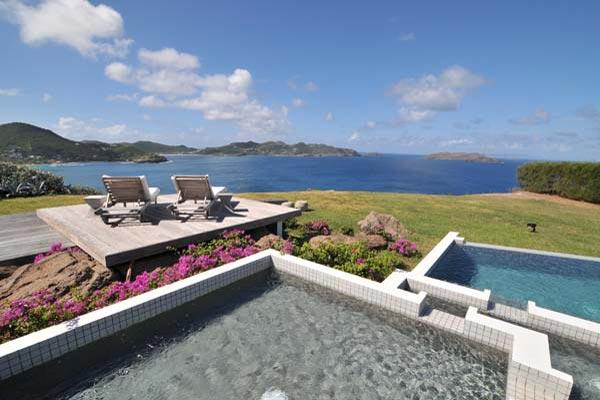 Contemporary villa with stunning views and the sunrise from the east WV SEA - Image 1 - Pointe Milou - rentals