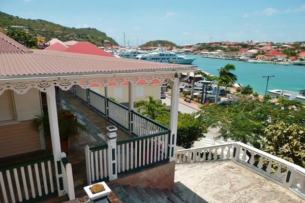 Historical home with large wrap-around terrace over Gustavia Harbor WV VIA - Image 1 - Gustavia - rentals
