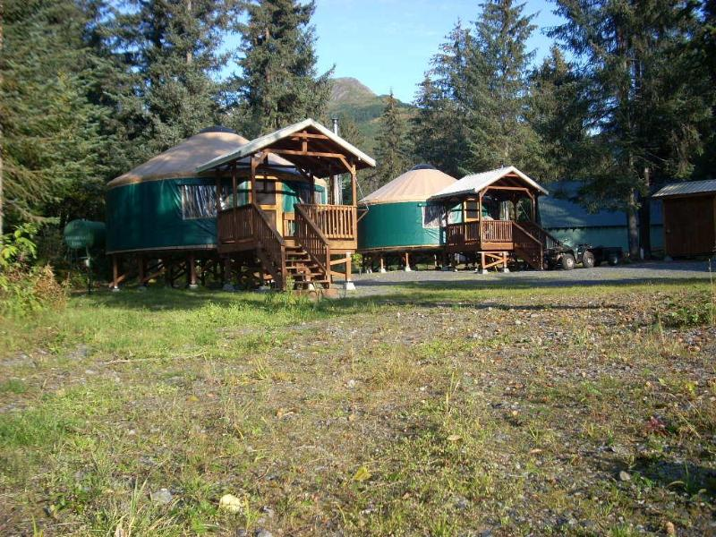 Summer Time-  24 ft. Yurts - Yurt lodging in Seward -(2) 24ft.and (1)30ft. Yurt - Seward - rentals