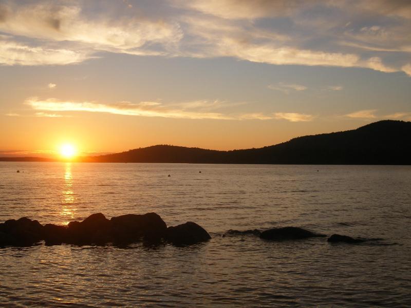Sunset from the association beach - MooseheadChalet.Com - Greenville - rentals