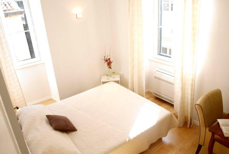 The main bedroom with large windows to full the room with sunlight - Secret IV| Sunny Modern 2-BR in Heart of Old Town - Dubrovnik - rentals