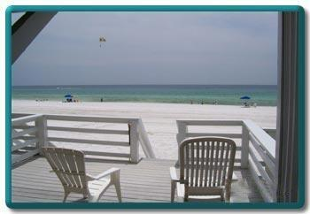 Lower Deck overlooking ocean with hot/cold shower - Seahorse - Destin - rentals