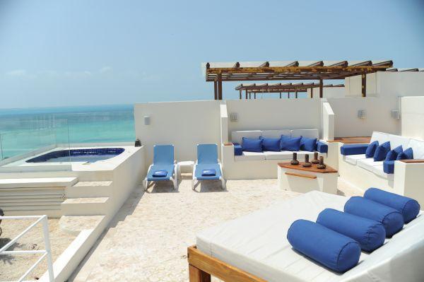 Private Rooftop - Ixchel Ocean Front Penthouse Luxury RooftopLounge - Isla Mujeres - rentals