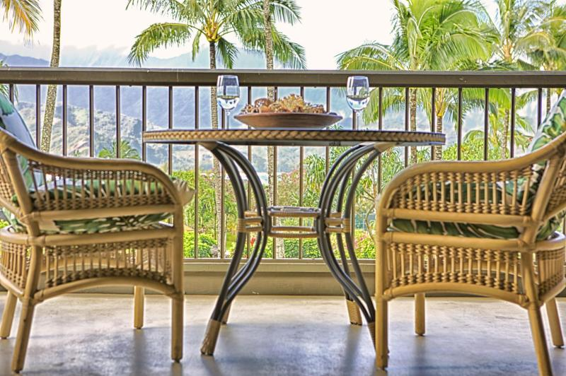 "lanai with view of bay - "" The Decendents Filmed Here"" - Princeville - rentals"