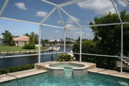 Private Pool w/ Waterfall Jacuzzi Overlooks Tranquil Lagoon - Watch for Dolphins & Manatees - Marco Getaway - 3 BR waterfront home w/dock & pool - Marco Island - rentals