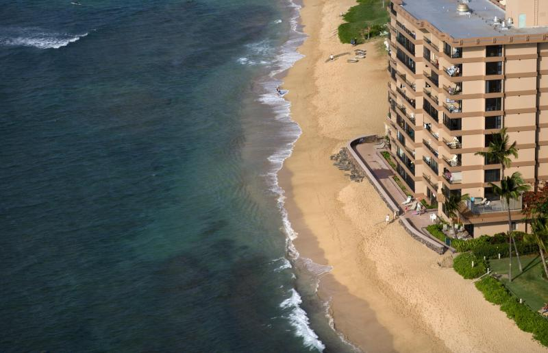 View of building from above - Oceanfront Studio Condo with fantastic views - Kaanapali - rentals