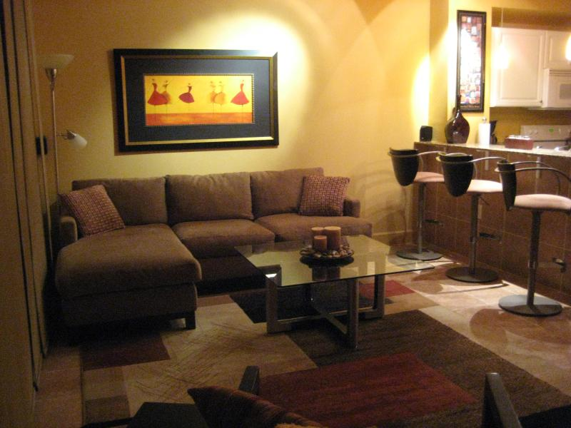 Living Room - 3 Bedroom with Free Wifi at Tidewater Beach Resort - Panama City Beach - rentals