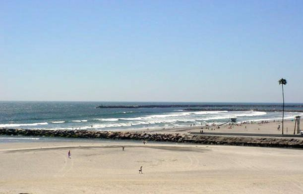 Beach view from balcony of our condo - Happy Whale Oceanside San Diego One Bedroom Condo - Oceanside - rentals