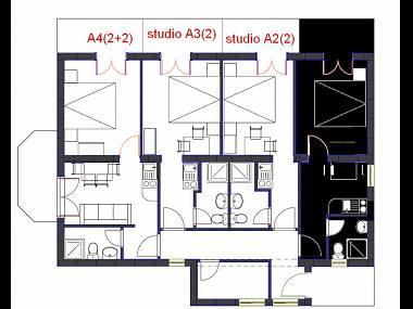 A2(2): apartment - 00313ZIVO A2(2) - Zivogosce - Zivogosce - rentals