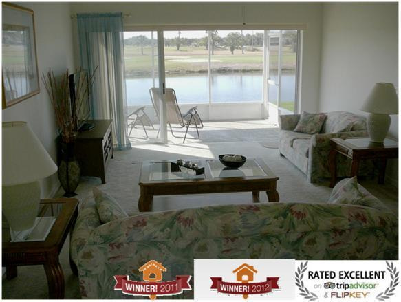 View on golf and pond - Disney.. Golf.. View.. Low rates..You have it all! - Orlando - rentals