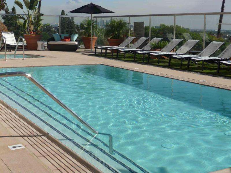 Pool with view of the City - $249  LUXURY POOL GYM ON WORLD FAMOUS SUNSET STRIP - West Hollywood - rentals