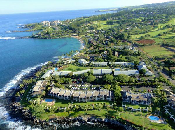 Aerial photo of resort, Honokeana Bay, Napili Bay - Napili Point Resort - Napili-Honokowai - rentals