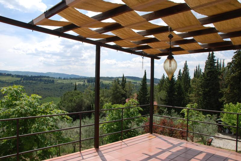Terrace - 2 Apartment Farmhouse at Greve in Chianti - Greve in Chianti - rentals