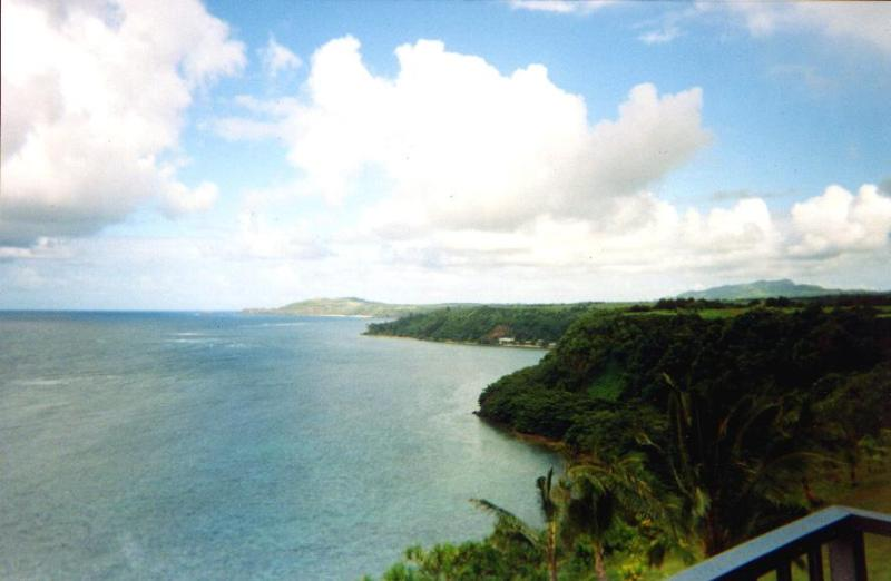 View of Kilauea Point and lighthouse - Hale Luna Koa: Kauai top floor ocean bluff condo - Princeville - rentals