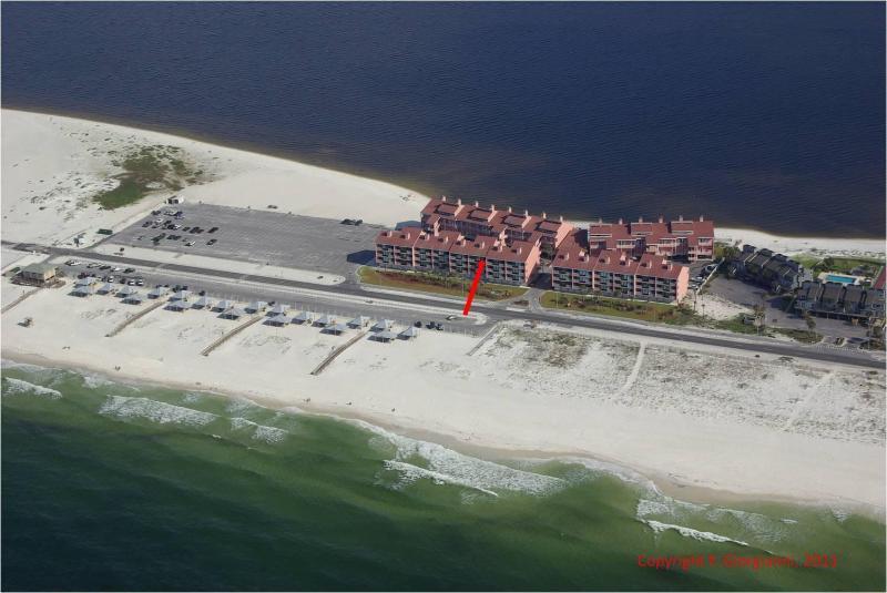 Aerial View - Pensacola Beach Best Location Condo, 3BR/3BA - Pensacola Beach - rentals