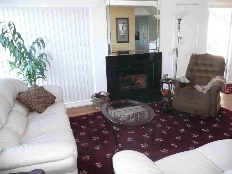 Living room & gas fireplace - Luxury San Diego Town Home - Central Location - San Diego - rentals