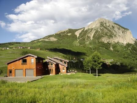 "View of ""The Lily' from the West with Mt. Crested Butte in the Background. - Spacious, Well-Kept Home. Great Views! Good Deals! - Crested Butte - rentals"