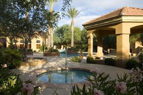 Community Center Hot Tub - 1 br newly furnished foothills condo, second floor - Tucson - rentals