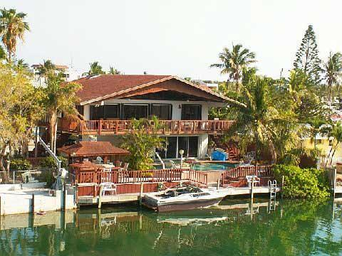 view of house from canal - Venetian Tropics 3 bedroom pool home on sailboat canal weekly vacation rental - Islamorada - rentals